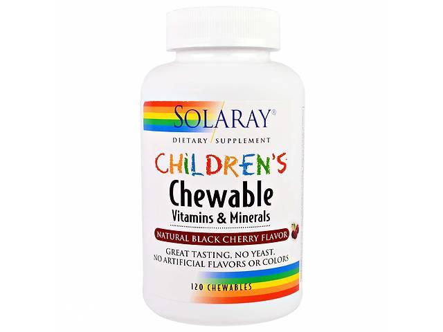 продам Мультивитамины для детей Solaray Childrens Vitamins and Minerals вкус вишни 120 таблеток (20018) бу в Киеве