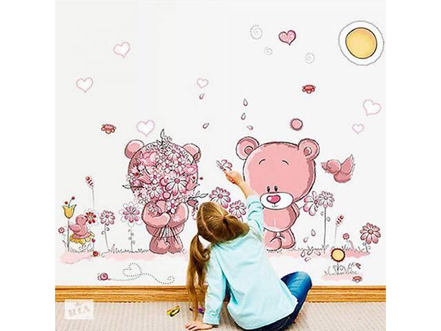 продам Наклейка на стену в детскую. Тедди мишки бу  в Украине