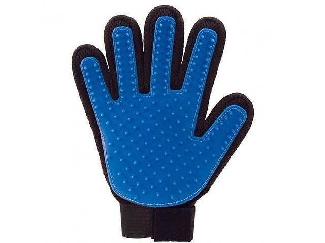 Перчатка Pet Pro для снятия шерсти с домашних животных PET BRUSH GLOVE Черный с синим (op532417932)- объявление о продаже   в Украине
