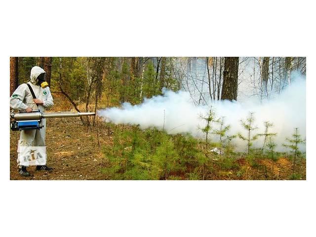 Обработки участков от комаров, ос, клещей.