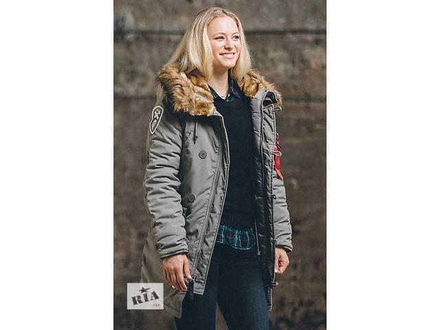 Зимняя женская куртка Аляска Alpha Industries Altitude W (серая)- объявление о продаже  в Киеве