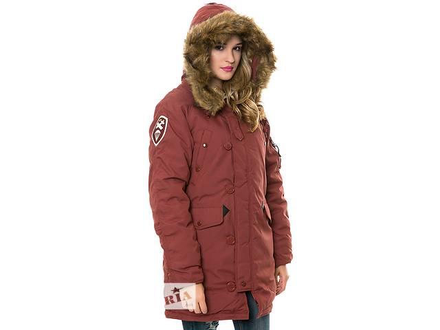 бу Зимова жіноча куртка аляска Altitude W Parka Alpha Industries (червона охра) в Львові