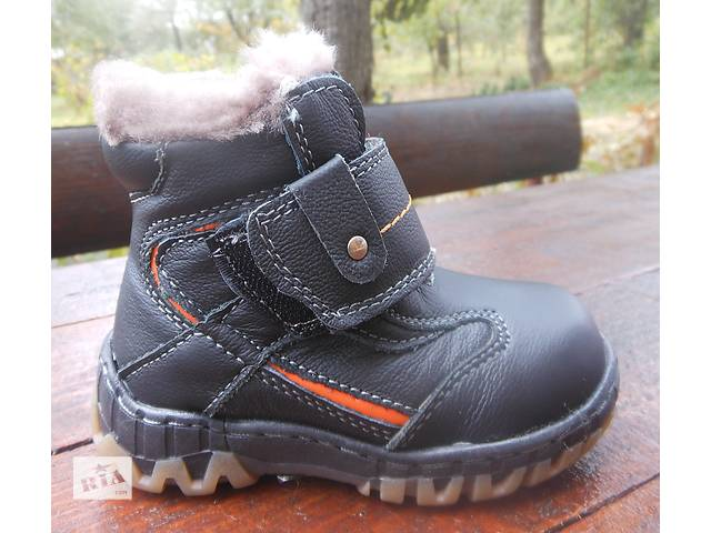 купить бу Зимние кожанные на цегейке ботинки для мальчика. Доставка. Гг. 21,22 в Виннице