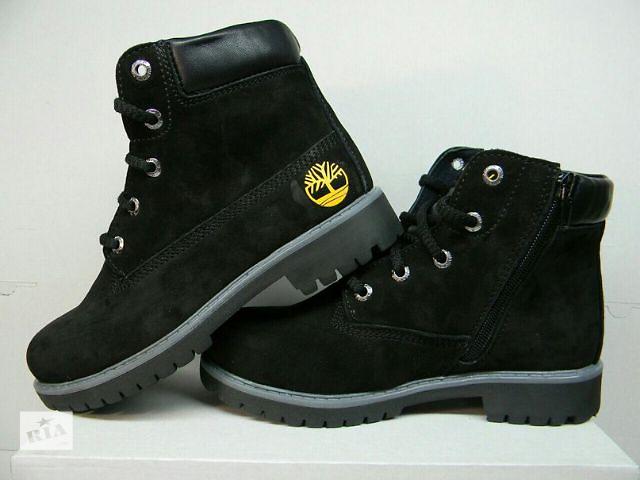 46da0909e8d3d9 продам Весняні підліткові черевики Timberland з натурального нубука і  шкіри. бу в Харкові